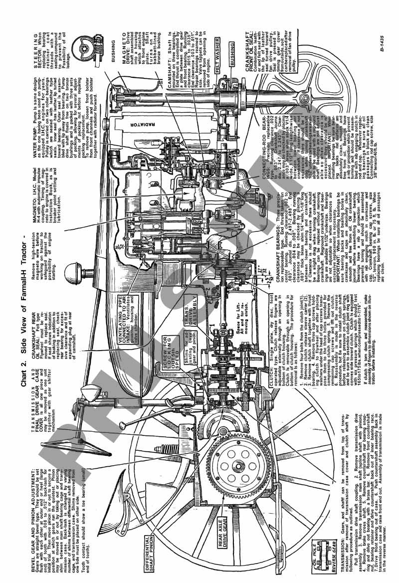 farmall m engine diagram farmall m parts diagram